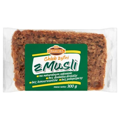 Rye bread with muesli Oskroba 300g