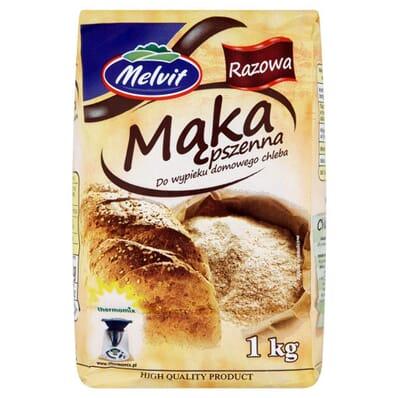 Wholemeal wheat flour Melvit 1kg