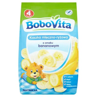Milk and rice porridge banana flavour Bobovita 230g
