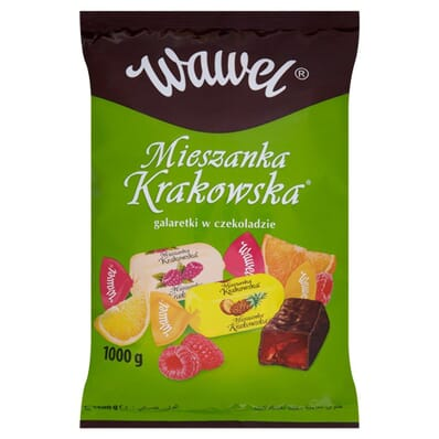Mieszanka Krakowska chocolate-covered jellies mix Wawel 100g