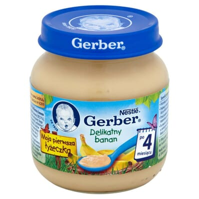 Delicate banana cream for a 4-months old baby Gerber 130g