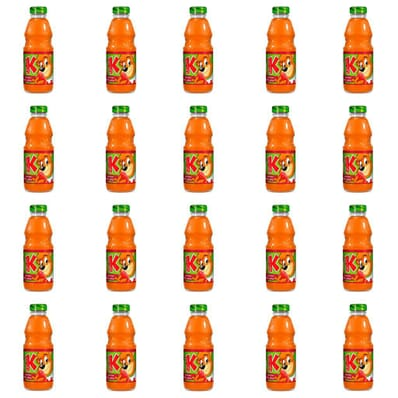 20x Carrot-apple-raspberry juice Kubus 300ml