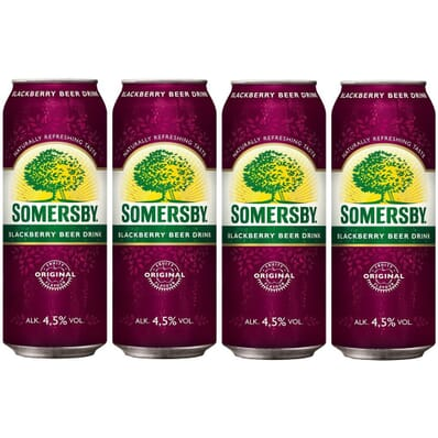 4x Somersby Blackberry beer can 500ml