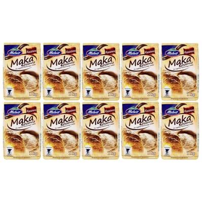 10x Wholemeal wheat flour Melvit 1kg