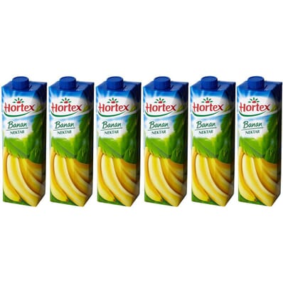 6x Hortex Banane Nektar 1l