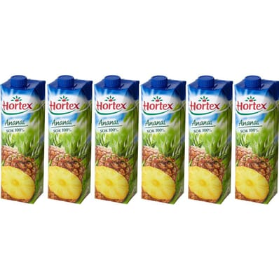 6x Pineapple nectar Hortex 1l
