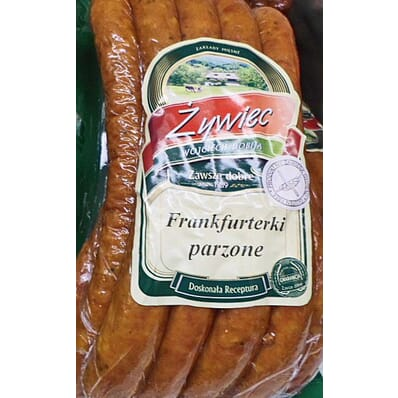 Frankfurter Würstchen scalded sausage Zywiec 800g