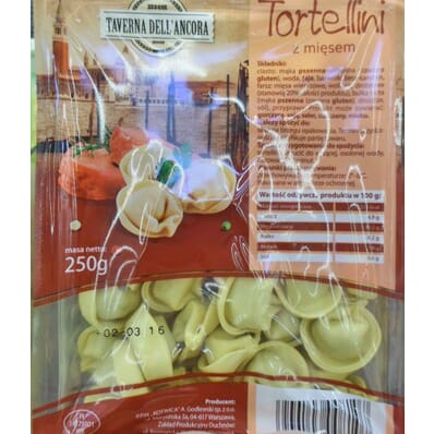Tortellinis with meat Taverna Dell'Ancora 250g