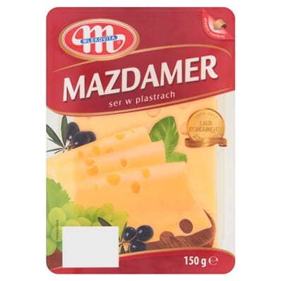 Maasdam cheese Mlekovita 150g slices