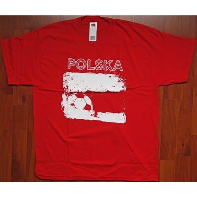 "Poland Polska - t-shirt ""Polska"" red XXL"