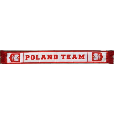 Poland Polska - white footbal fan scarf 130x18cm Sportteam