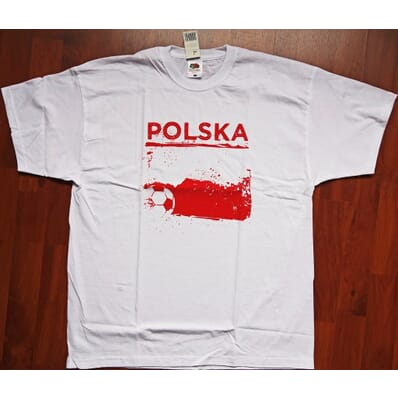 """Poland - """"Polska"""" t-shirt white S"""