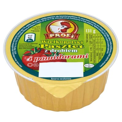 Pate with poultry and tomatoes Wielkopolski Profi 131g