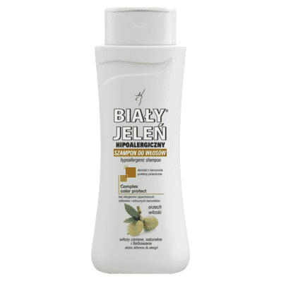 Hipoalergiczny szampon do włosów ciemnych Biały Jeleń 300ml