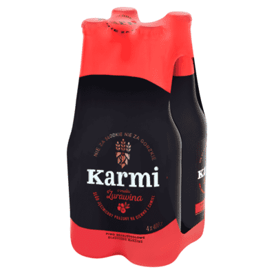 4x Cranberry beer Karmi bottle 400ml