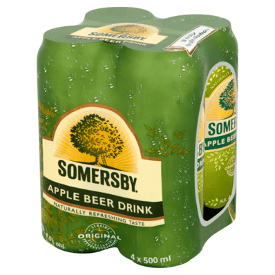 4x Somersby Apple beer can 500ml