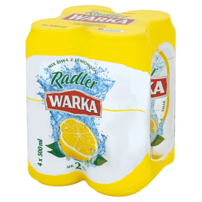 4x Warka Radler beer can 500ml
