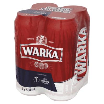 4x Warka beer can 500ml