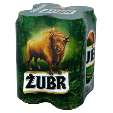 4x Piwo Żubr puszka 500ml