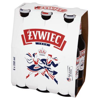 6x Zywiec Bier Flasche 330ml
