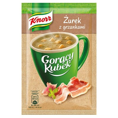 40x Gorący Kubek Żurek z grzankami Knorr 17g