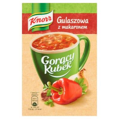 Gorący Kubek Gulaszowa z makaronem Knorr 16g