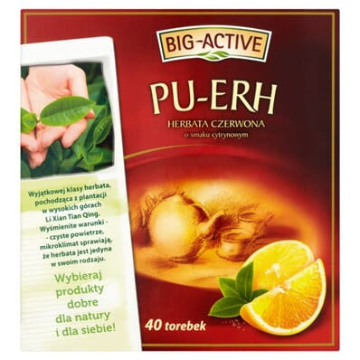 PU-ERH tea with lemon Big-Active 40 bags