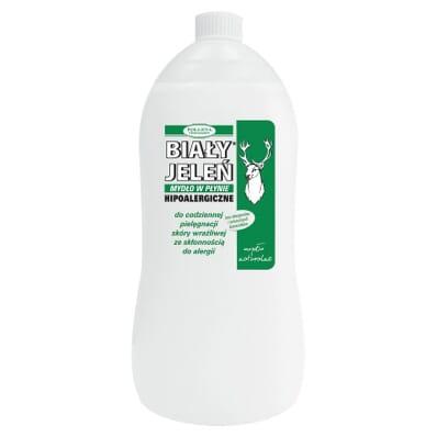 Hipoalergiczne mydło w płynie skóra wrażliwa Biały Jeleń 1l