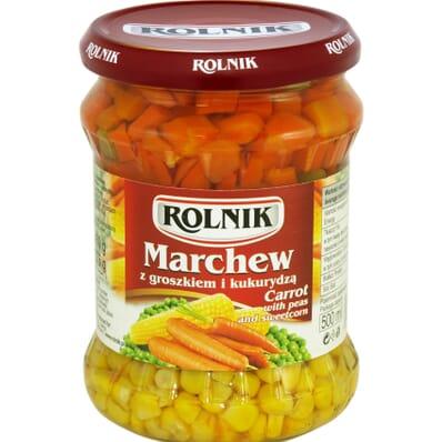 Marchew z groszkiem i kukurydzą Rolnik 460g