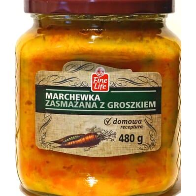 Marchewka zasmażana z groszkiem Fine Life 480g