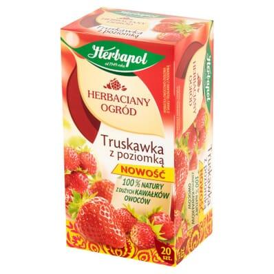 Herbata Truskawka z poziomką Herbapol 20 torebek