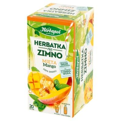 Herbatka na zimno Mięta i mango Herbapol 20 torebek