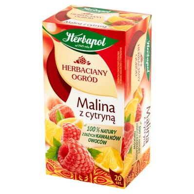 Raspberry tea with lemon Herbapol 20 bags