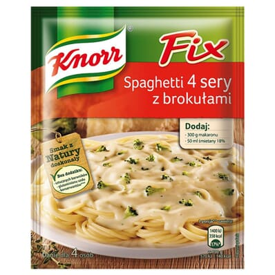 Fix Spaghetti four cheese with broccoli spice mix Knorr 43g