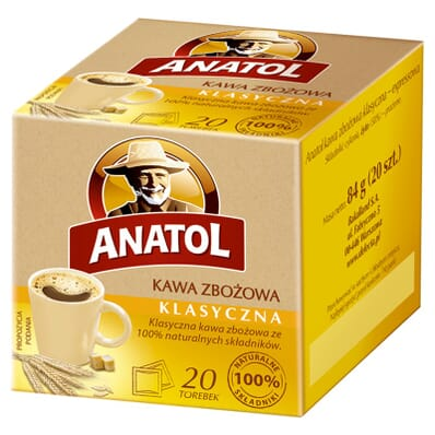 Anatol classic cereal coffee 20 bags