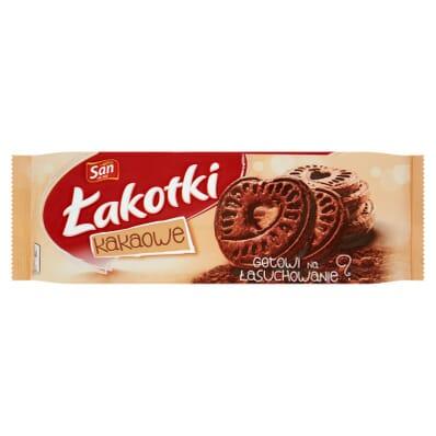 12x Ciastka Herbatniki kakaowe Łakotki San 168g