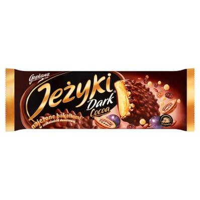 Jezyki Dark Cocoa biscuits Jutrzenka 140g