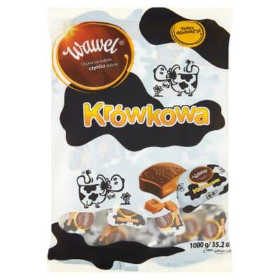 Krowka fudges with caramel cream Wawel 100g (per weight)
