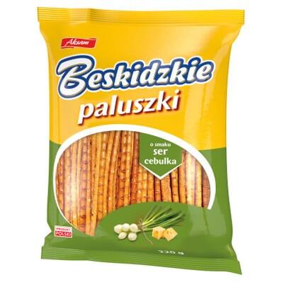 Paluszki Beskidzkie cheese and onion breadsticks 220g