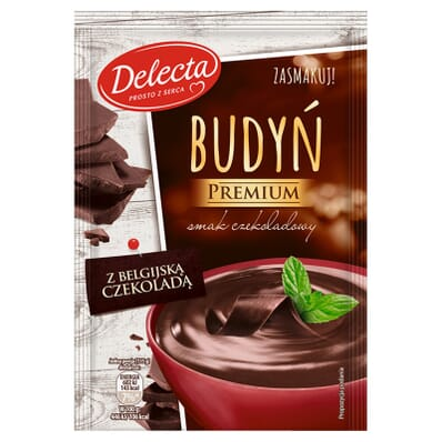 Chocolate pudding with Belgian chocolate Delecta 47g