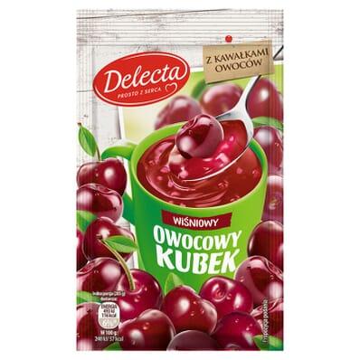 Owocowy kubek cherry kissel Delecta 30g