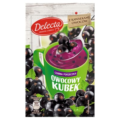Owocowy kubel blackcurrant kissel Delecta 30g