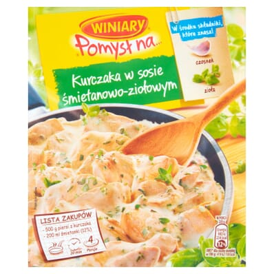 Pomysl na... chicken in cream and herbs sauce spice mix Winiary