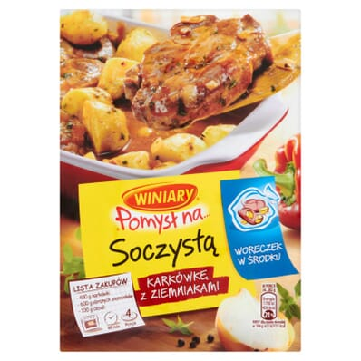 Winiary Pomysl na... saftiger Schweinenacken mit Kartoffeln
