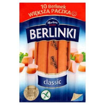 Berlinki classic sausages Morliny 500g