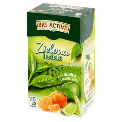 Herbata zielona limonka i mandarynka Big-Active 20 torebek