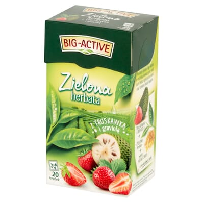 Herbata zielona truskawka i graviola Big-Active 20 torebek