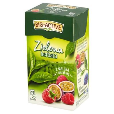 Herbata zielona malina i marakuja Big-Active 20 torebek