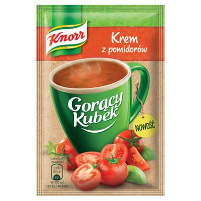 Gorący Kubek Na bogato Pomidorowa kremowa z makaronem Knorr 34g