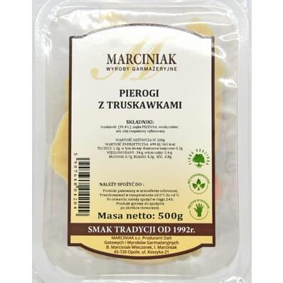 Pierogi z truskawkami Marciniak 500g
